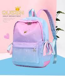 <b>Women Backpacks</b> Pink Printing <b>Children Backpack</b> Schoolbags For ...