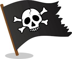 フリーイラスト] ドクロマークの海賊旗 - パブリックドメインQ:著作権フリー画像素材集