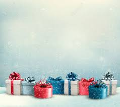 Gifts Background Holiday Christmas Background With A Border Of Gift Boxes Vector