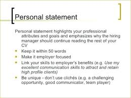 Personal Statement Cv Examples Career Change Statements For Resumes