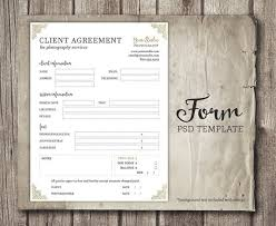Photography Services Contract Amazing Client Agreement Form For Photographers Photography Business Etsy