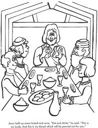Small Picture The Last Supper Bible coloring page for Kids to Learn bible