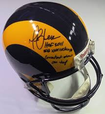 marshall faulk signed inscribed sb xiv champs greatest show on turf full size