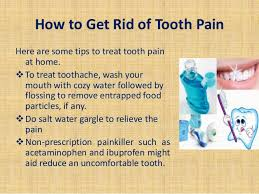 home remedy for toothache pain relief