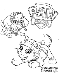 Paw Patrol Everest Printable Coloring Pages