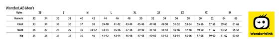 Wonderwink Size Chart