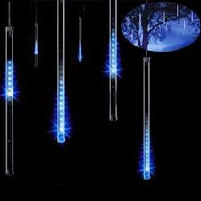 EU plug 8 tubes Rain Drop/Icicle Snow Fall String LED Christmas ...