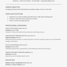 Resume Objective For Internship How To Write A Great Internship Social Work Resume