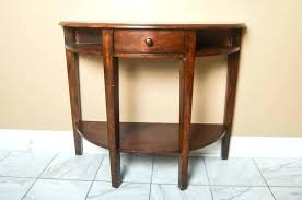 round hall table large size of round console table with inspiring half round hall table plans