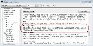 news article format newspaper article citation apa style endnote community
