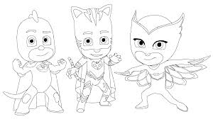 Small Picture PJ Masks Coloring Pages GetColoringPagescom