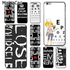 Us 3 99 20 Off Maiyaca Eminem Eye Chart For Iphone 4s Se 5c 5s 6s 7 8 Plus X Xr Xs Max For Samsung Black Soft Shell Phone Case Rubber Silicone In