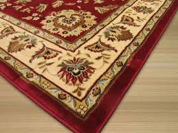 machine made polypropylene red allover kashan rug traditional area rugs by eorc eastern rugs