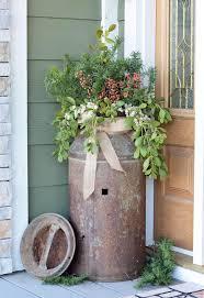 Antique Milk Can Porch Planter