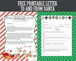 Free Letter From Santa Word Template Free Printable Letter To And From Creative Living Letters