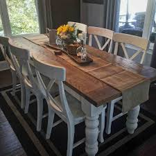 custom white oak farmhouse table by knottywoodcraftchs on etsy modern dining