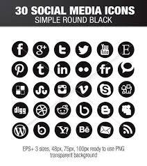 round social media icon.  Round Simple Social Media Round Black Icons Throughout Round Social Media Icon