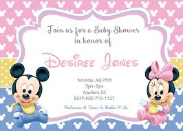 mickey and minnie invitation templates twin baby shower invitations templates ideas invitations templates