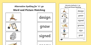 # not suitable for all phones. Gn Grapheme Phase 5 Alternative Spellings Word And Picture Matching Worksheet