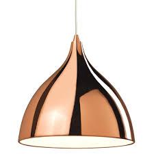 cafe copper dome pendant light