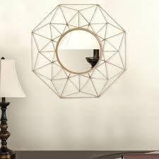 circle mirror wall decals in x in diamond metal wall decor dn00 the home depot diamond