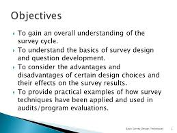 presentation survey examples basic survey design techniques ppt download