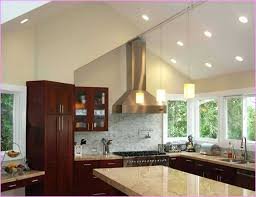 recessed lighting sloped ceiling remodel spacing cathedral image hanging led