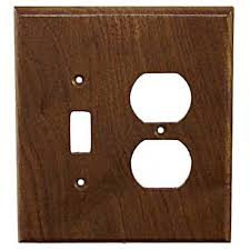 traditional toggle duplex combo switch plate unfinished black walnut