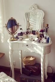 there are 4 tips to this nail polish dressing table make up home decor vine decor home furniture home accessory jewels cute bedroom white makeup