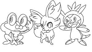 Small Picture Pokemon Coloring Pages Froakie Frogadier Images With Elegant