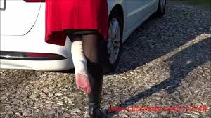 Crutch fetish sprain woman