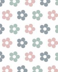 Behang Bloemen Roze Grijs Tinklecherry