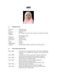 Format Resume Sample Curriculum Vitae Sample Format Malaysia Best Format Resume Malaysia 45