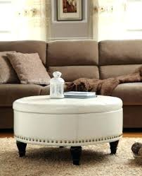 round leather ottoman coffee table with storage fishcom round leather ottoman coffee table square faux leather
