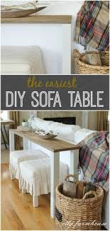 DIY Sofa Table for Only 30 Diy sofa table Diy sofa and Sofa tables
