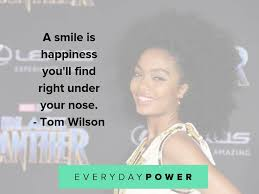 es about smiling and joy