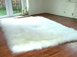 decoration small faux fur rugs white rug sea foam sheepskin with ikea grey accent black orange