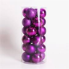 Purple Balls For Decoration Magnificent Multicolor Decorative Theme Pack Of Exquisite Christmas Balls