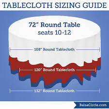 what size tablecloth for 72 round table