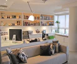office in living room. Confortable Home Office In Living Room Also Design Decoration