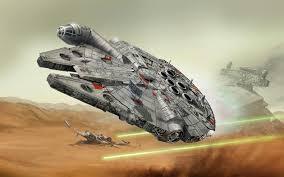 Risultati immagini per partenza millennium falcon