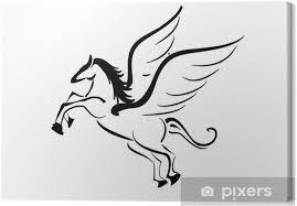 Obraz Okřídlený Kůň Tetování Na Plátně