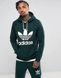 adidas hoodie mens. adidas originals trefoil hoodie in green br4183 mens