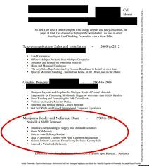 Cannabis Resume Example LOOK Guy's Resume Lists Experience As 'Marijuana Dealer And 1