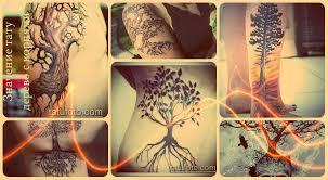 значение тату дерево с корнями смысл история фото эскизы