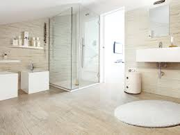 stylish wood look tile bathroom