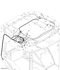 9510rt tractor roof wiring harness manual a c for north america epc john deere online