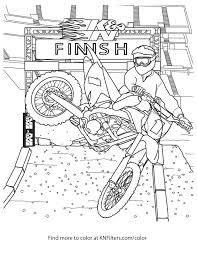 Disegni Da Colorare K N Per Bambini Con Disegni Di Moto Cross E Dirt