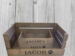 apple crate pet bed and pet toy box