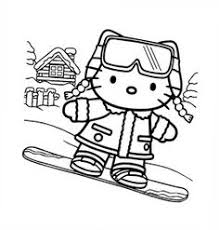 Small Picture Hello Kitty Christmas Coloring Page Coloring pages for applique